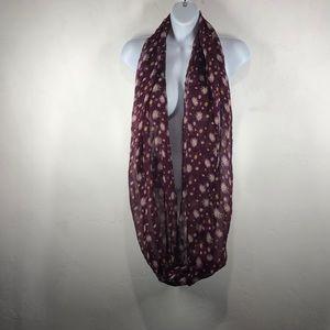 Chatties purple daisy infinity scarf